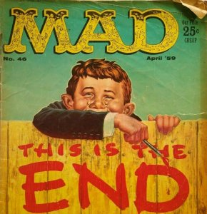 MAD Magazine April 1959 No 46 The End April Fools Television Roulette Western