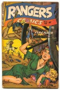 Rangers #63 1952-Firehair- headlight cover VG-