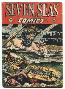 Seven Seas #1 1947 1st issue-Matt Baker-Golden-Age-incomplete