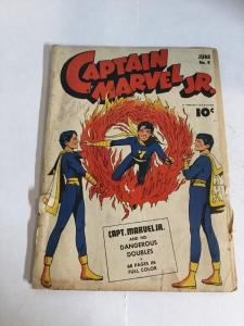 Captain Marvel Jr 8 Gd Good 2.0Q Cover Detached Golden Age