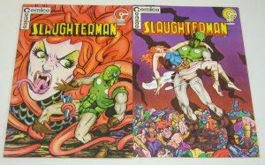 Slaughterman #1-2 FN/VF complete series - bronze age - matt wagner's grendel