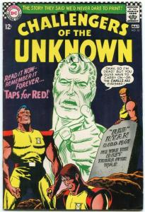 Challengers Of The Unknown #55 1967- DC Silver Age- Taps for Red VF-