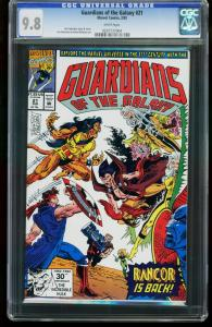 GUARDIANS OF THE GALAXY #21 1992-CGC GRADED 9.8 WHITE PAGES 0207737004