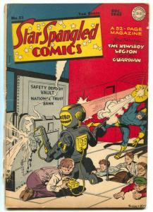 Star Spangled Comics #51 1945- ROBOT COVER- Kirby G+