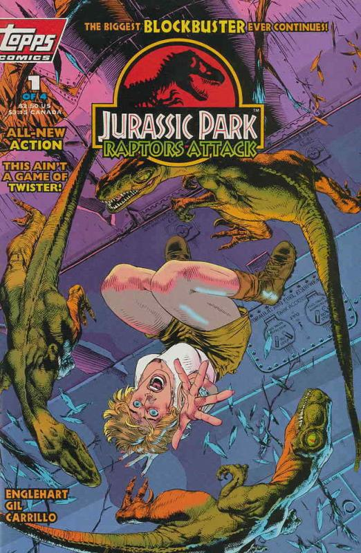 Jurassic Park: Raptors Attack #1 VF; Topps | save on shipping - details inside