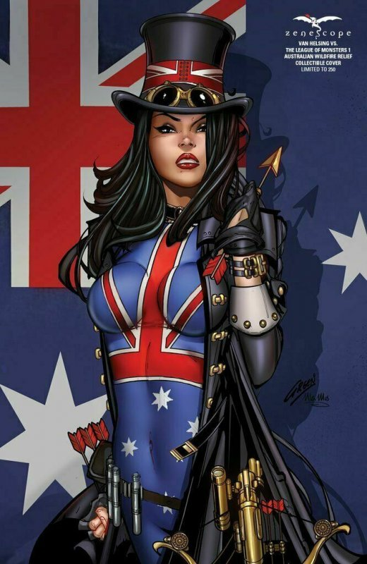 VAN HELSING VS LEAGUE OF MONSTERS #1 AUSTRALIA WILDFIRE RELIEF COLLECTIBLE COVER