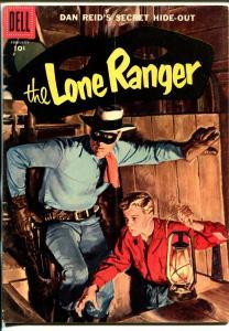 Lone Ranger #104 1957-Dell-painted cover-Dan Reid's Secret Hide-Out-VG/FN