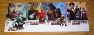 Infestation: Outbreak #1-4 VF/NM complete series - all A variants - IDW comics