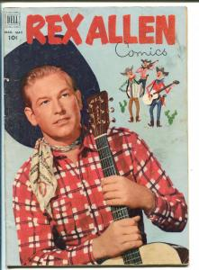 REX ALLEN #4-1952-DELL-PHOTO BACK AND FRONT COVER-B-WESTERN STAR-vg+