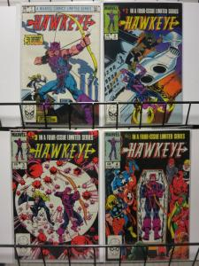 HAWKEYE (1983) 1-4 FEATURING THE AVENGERS - COMPLETE!