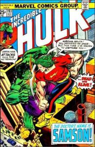 Marvel THE INCREDIBLE HULK (1968 Series) #193 FN