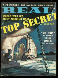 REAL MAGAZINE AUGUST 1961-JAMES MEESE SECRET WAR COVER FN