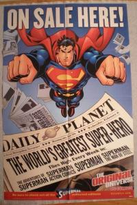 SUPERMAN ON SALE HERE Promo poster, 22x34, 2001, Unused, more Promos in store