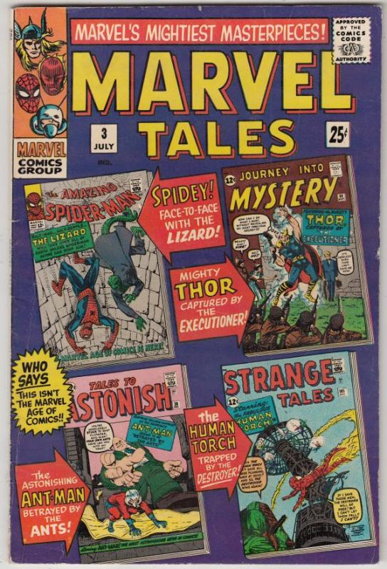 Marvel Tales #3 (Jul-66) VF+ High-Grade Spider-Man, Thor, Human Torch, Ant-Man