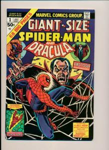 Giant Size SPIDER-MAN & DRACULA #1 ~ FN+ (PF616) Marvel Comics 1974 Romita