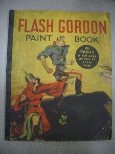 FLASH GORDON PAINT BOOK 1936 WHITMAN MING THE MERCILESS G