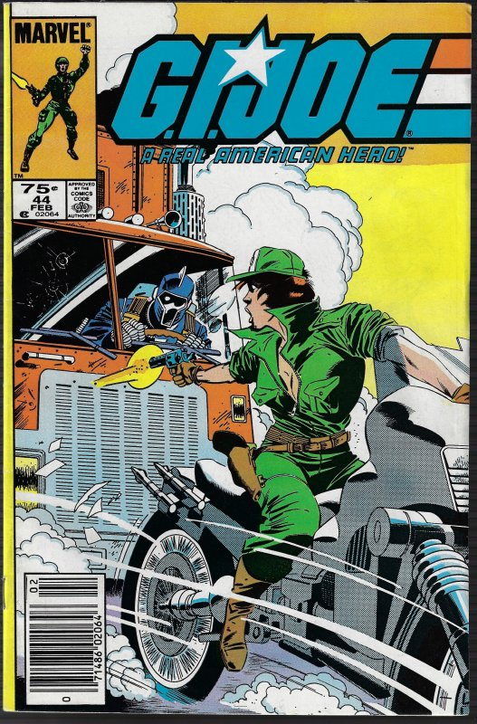 GI Joe, A Real American Hero #44 (Marvel, 1986) VF/NM
