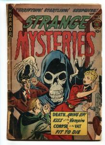 STRANGE MYSTERIES #7 Pre-code horror 1952-spicy VAMPIRE story-Violence-Sick
