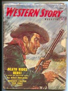Western Story 12/953- Popular-pulp stories-Will Cook-Walt Sheldon-G/VG