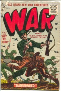 War #38 1955-Atlas-Capt Kirk Of The Infantry-Dick Ayers-VG