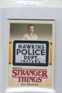 Stranger Things Jim Hopper commemorative patch card Topps Netflix 2018 Season