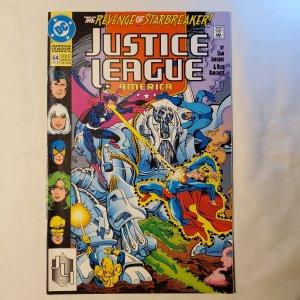 Justice League America 64 Very Fine+ Cover by Rick Burchett