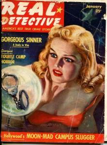 REAL DETECTIVE-JAN 1940-SPICY-MURDER-VICE-SEX-RAPE-POISON-HOLLYWOOD-fair FR