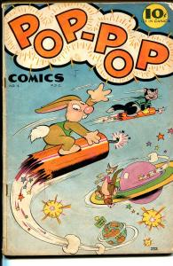Pop-Pop #1 1945-!st issue-fireworks cover-sci-fi humor-WWII era-VG