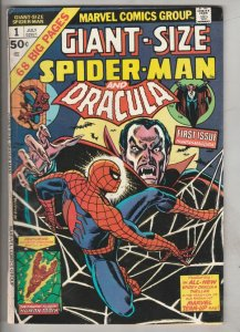 Giant-Size Spider-Man and Dracula #1 (Jul-74) FN Mid-Grade Spider-Man
