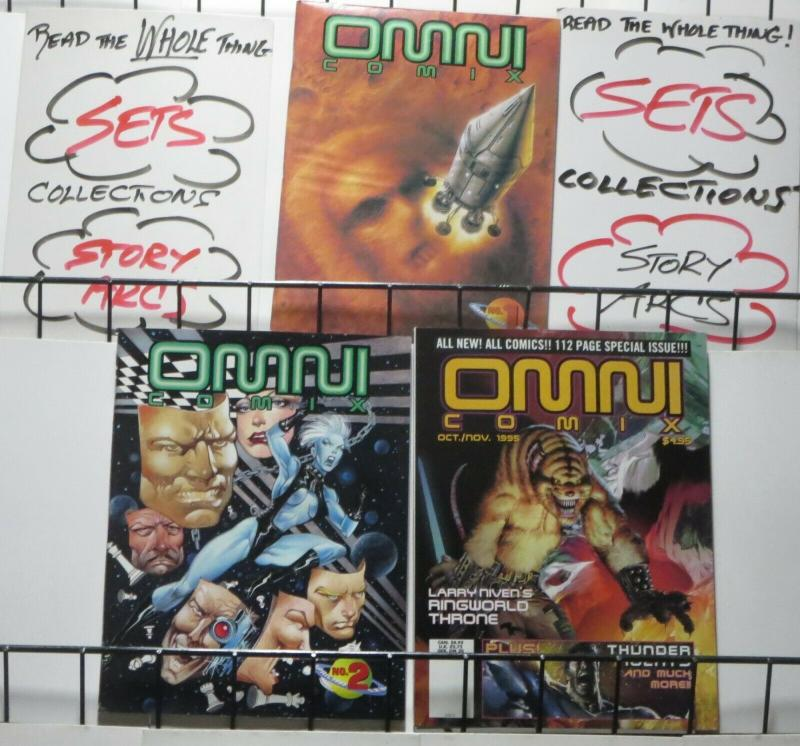 OMNI COMIX #1-3 COMPLETE! F-VF or Better! THUNDER Agents story! Gulacy, Corben