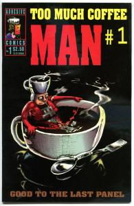 TOO MUCH COFFEE MAN #1 2 3 4 5, 8 9 10 + 3 CS +, NM-, Signed Wheeler w/ art,1993