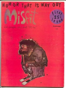 Misfit #1 1961-MAD imitator-1st issue-wacky humor-parody-satire-VG/FN