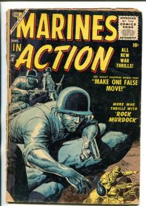 MARINES IN ACTION #8 ROCK MURDOCK - SEVERIN COVER '56 FR/G