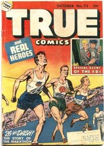 TRUE COMICS #73-1948-WALT DISNEY LIFE STORY-MICKEY MOUSE-F.B.I.-MARATHON
