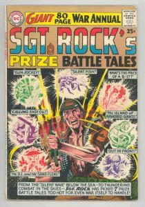 SGT ROCK'S PRIZE BATTLE TALES ANNUAL #1 GREAT .1964. ORIGINAL - KUBERT - FN++