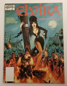 Elvira Mistress of the Dark #1 VF/NM 1988 Marvel Spring Special Horror Magazine