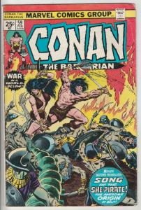 Conan the Barbarian #59 (Feb-78) VG/FN Mid-Grade Conan the Barbarian