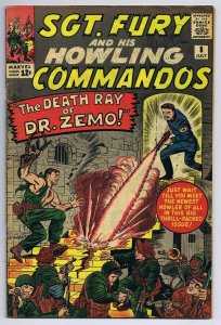 Sgt Fury and His Howling Commandos #8 ORIGINAL Vintage 1964 Marvel Comic Book