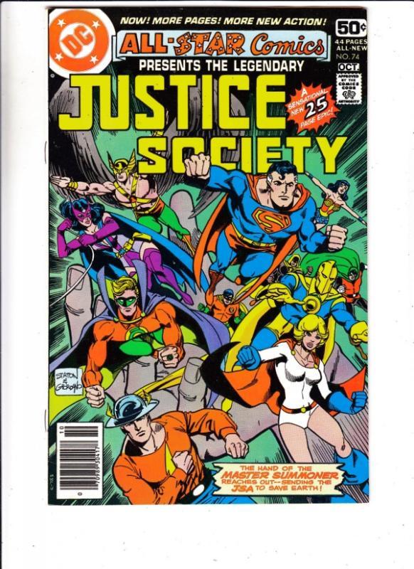 All-Star Comics #74 (Oct-78) VF/NM High-Grade Justice Society of America (Gol...