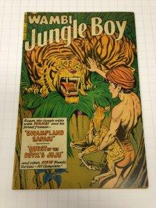 Wambi, Jungle Boy 9 VG+  Fiction House