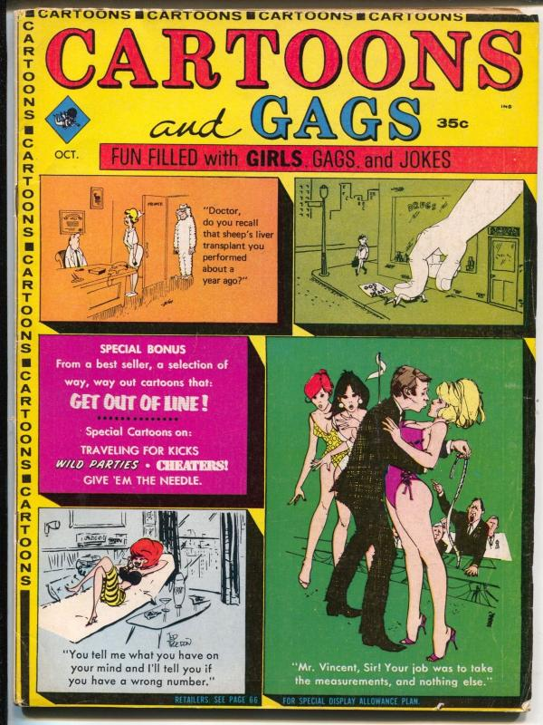Cartoons and Gags 10/1968-Marvel-spicy cartoons & jokes-Orheck-Trogdon-FN
