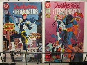 DEATHSTROKE THE TERMINATOR (1991) 10-11  new VIGILANTE
