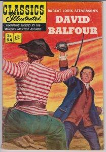 Classics Illustrated 94 (HRN94) VG David Balfour