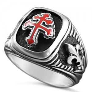 Cross of Lorraine Special Forces ring Artisan made Sterling Silver