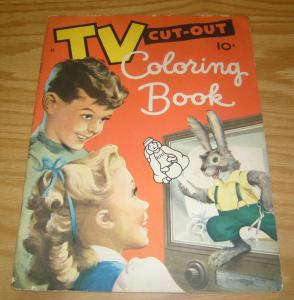 TV Cut-Out Coloring Book #41 VG silver age  - all pages uncolored