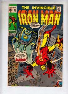 Iron Man #36 (Apr-70) VF/NM+ High-Grade Iron Man