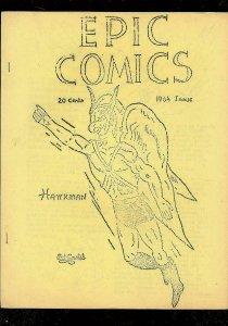 EPIC COMICS FANZINE #1 1964 VG/FN