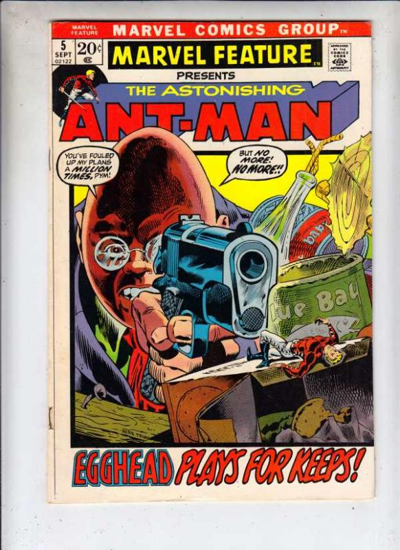 Marvel Feature presents Ant-Man, The Astonishing #5 (Sep-72) VF/NM High-Grade...
