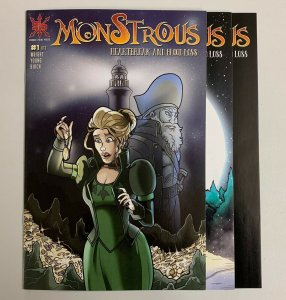 Monstrous Heartbreak And Blood Loss #1-3 Set Source Point Press 2021 8.5+