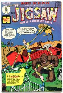 JIGSAW #1-HARVEY SUPER-HERO COMIC-FIRST ISSUE! FN-